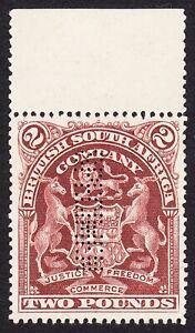 Rhodesia 1908 £2 SPECIMEN READS DOWN FROM LEFT (SAMUEL R5) SG91s VF NOGUM -NH