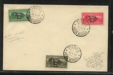 Albania   C43-45  on cover  nice 1939  cancel         KL0803