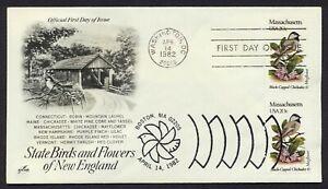 #1973 20c Massachusetts, Art Craft-Dual Cancel FDC ANY 4=