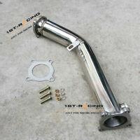 """SS304 Decat Pipe 3/"""" Inch Downpipe Kits for Audi A4 B5 B6 A6 4B//VW Passat B5 1.8T"""