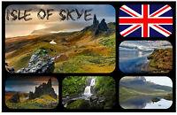 ISLE OF SKYE, SCOTLAND, UK - SOUVENIR NOVELTY FRIDGE MAGNET - SIGHTS / GIFTS