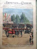 La Domenica del Corriere 11 Giugno 1933 Zeppelin Duce Atletica Romana Golf Moda
