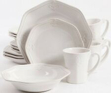 Better Homes & Gardens Country Crest Fleur de Lis 16-pc Dinnerware Set for 4 NEW