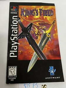 King's Field PS1 MANUAL ONLY