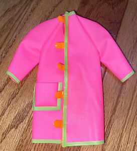 HTF Sears Exclusive Casey Goes Casual 3304 Pink Plastic Coat Barbie Francie Doll