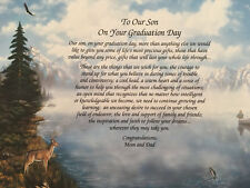Graduation Gift For Son Class of 2018 Poem Hunting Fishing Deer Hunter Parents