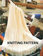 (102) Throw in Aran Yarn, Anchor design, copy knitting pattern
