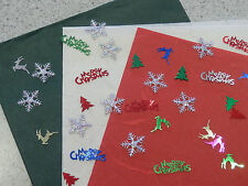 1 each x Red White Green Wrapping Paper 64x94cm + BONUS Christmas Table Scatters