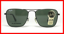 N.O.S! VINTAGE RAY BAN B&L CARAVAN BLACK SMALL SUNGLASSES G-15 With accessories!