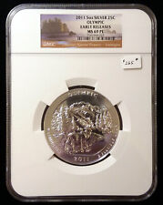2011 Olympic ATB 5 oz Silver Quarter NGC MS 69 PL ER Prooflike Early Releases