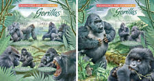 Gorillas Monkeys Affen Primates Animals Fauna Uganda MNH stamp set