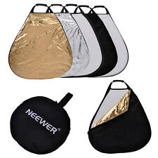 """Neewer 5-color-in-1 Collapsible Multi Disc Triangle 24"""" Photography Reflector"""