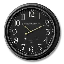 WILLIAM SUTTON AND CO LARGE GLASS FACED WALL CLOCK - PUT ON A WALL IN THE HOME