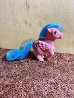 Vintage My Little Pony G1 Firefly Pegasus Pink Blue Lightning Symbols