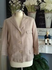 JIL SANDER JACKET NUDE PINK STRIPE UK 14 BOX JACKET