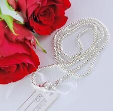 Sólido de plata esterlina 925 Cadena Collar * Las Palomitas * 18 in (approx. 45.72 cm) (45 Cm)