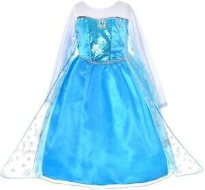 Kids Girls Frozen Elsa Dress Costume Princess Anna Party Dresses Fancy Cosplay