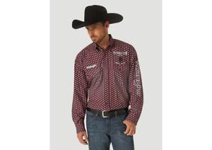 Wrangler® Pendleton Logo Print Long Sleeve Button Down Shirt MP1336M