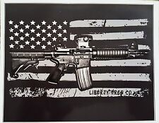 Ar-15 Decal - American Flag AR 15 Vinyl Vinyl Sticker - 2nd Amendment Decal
