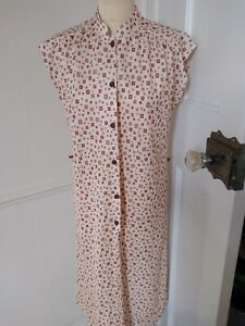 True Vintage 1970's St Michael M&S   cheerful  sun dress, summer size 14  (12)
