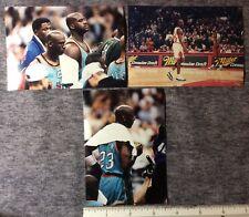 3 GAME TAKEN ORIGINAL VINTAGE SNAP SHOTS of  MICHEAL JORDAN SHAQ 1990s   #118c