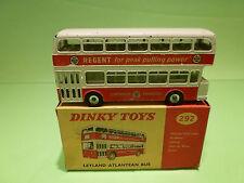 DINKY TOYS 292 LEYLAND ATLANTEAN BUS - REGENT PEAK PULLING POWER - VERY GOOD BOX