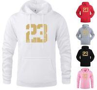 NEW Gold Print Michael Air 23 Jordan Mens Hoodie Sportswear Fashion Men Hoodies