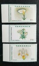 Tanzania 1999 Flowers MNH 3 values