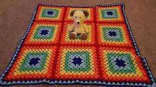Handmade Wool Blend Crochet Nursery Blankets & Throws