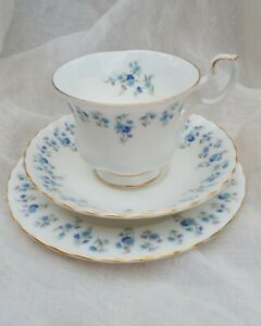Vintage Royal Albert Memory Lane Montrose Tea Cup Trio Bone China England 1960s
