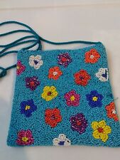 Beaded Flower Purse vintage? With Damage See Photos B6