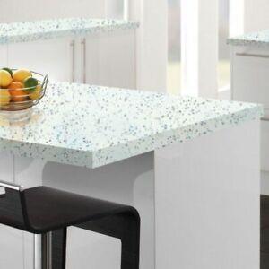 Strass blanc Kitchen Worktop square edge 1.5 metre x 600mm x 38mm