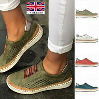 Womens Breathable Slip On Trainers Pumps Ladies Summer Casual Comfy Loafers Shoe