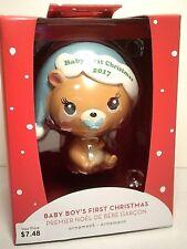 2017 Baby Boy's First Christmas Ornament Bear NIB ~ AMERICAN GREETINGS HEIR