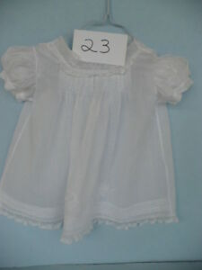 VINTAGE BABY GIRLS WHITE HEIRLOOM DRESS BY TINY TOTS--#23