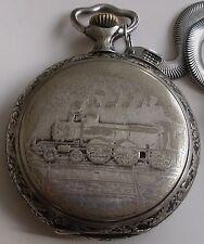 RARE Antique-LARGE-Doxa-Railroad  OPEN FACE SWISS POCKET WATCH