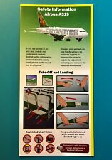 FRONTIER AIRLINES SAFETY CARD--AIRBUS 319-- 2015 REV