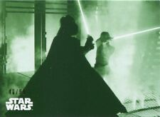 Star Wars ESB Black & White Green [99] Base Card #127 The Battle Rages on