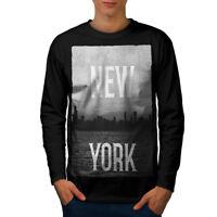 New York Down Town USA Men Long Sleeve T-shirt NEW | Wellcoda