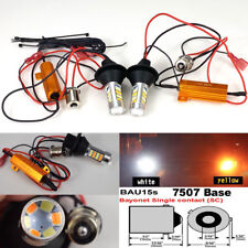 Rear Signal No Canbus 7507 BAU15S White Amber Switchback 42 B1 #12 For Acura