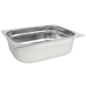 Gastronorm 1/2 Stainless Steel Containers Bain Marie Food Pan FREE DELIVERY