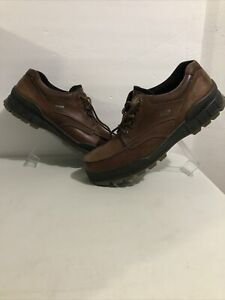 ECCO Track II Low Moc Bison Nubuck Goretex Hiking Shoes Sz 11-11.5 Us 45 Euro