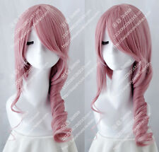 cosplay wig Final Fantasy XIII 13 Lightning Pink curly hair  game anime wigs