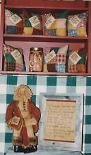 Vintage Sewing Pattern Primitive - Konfetti'S Santa, Pillows, Stitchery, Rare!