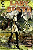 "Lady Death Unholy Ruin #1  Walking Dead Homage ""Damaged""  Ltd. Ed. Comic Book"