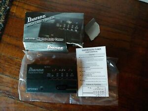 "IBANEZ 6PTIT01 Guitar Bass Electronic Digital Auto Tuner Battery 1/4""  Plug"