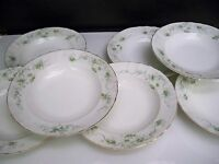 7 MADDOCK'S LAMBERTON WORKS SOUP BOWLS ROYAL PORCELAIN FLORAL SWAGS