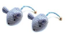 Crochet Mouse Cat Toy - 2 Pk Blue