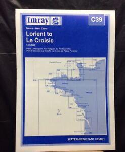 Imray Chart C39. LORIENT to Le CROISIC. France - West Coast. Pub. 1998