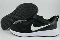 Nike Kid's Size 3Y Revolution 5 (PSV) Running Shoes BQ5672 003 Black/White NIB